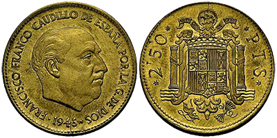 Bildergebnis für pieza de 2''50 pesetas